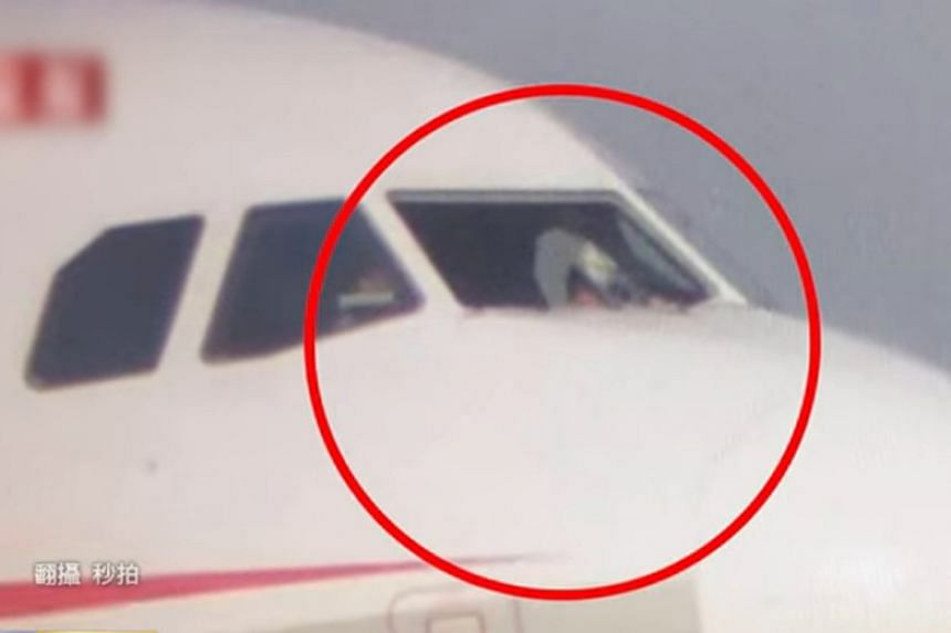 No passengers were injured in the incident but the pilot sitting in the right seat, who is usually the first officer, suffered scratches and a waist sprain.