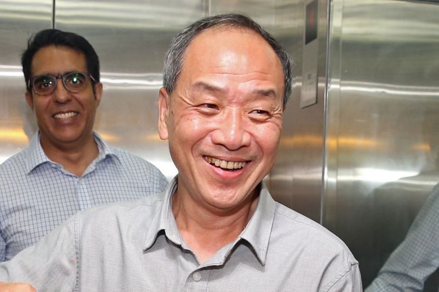 Veteran opposition MP Low Thia Khiang at the Workers' Party's Geylang Road headquarters on April 8, 2018.