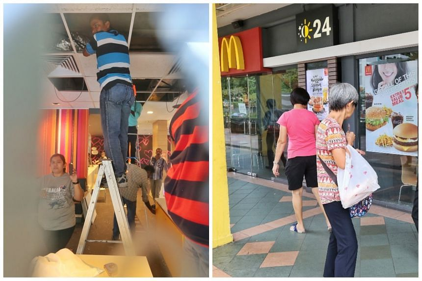 The outlet at Block 538 Bedok North Street 3 was temporarily closed after the incident.