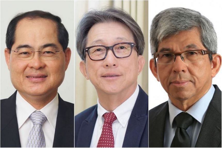 (From left) Mr Lim Hng Kiang, Mr Lim Swee Say and Dr Yaacob Ibrahim stepped down as Minister for Trade and Industry (Trade), Minister for Manpower and Minister for Communications and Information, respectively, on April 30, 2018.