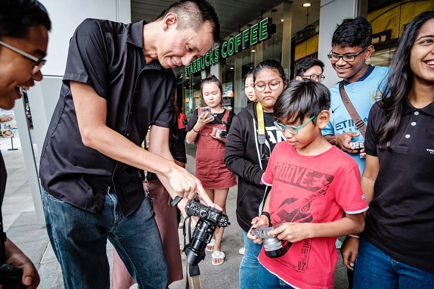 Youth can learn photography skills on the creative arts track. Photo: Fujifilm Singapore