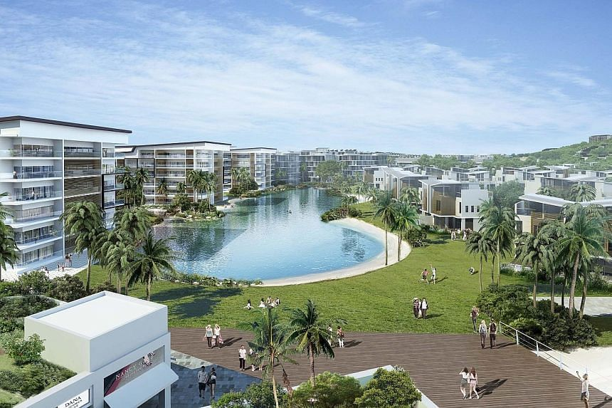 """Sinarmas Land's Nuvasa Bay project in Batam. The Indonesian property developer said that """"with Indonesian regional elections happening this year, the demand for home purchases is expected to dampen, as consumers adopt a wait-and-see approach for big"""