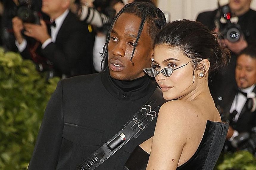 Reality-show star Kylie Jenner with her boyfriend, rapper Travis Scott, at the Met Gala earlier this month.