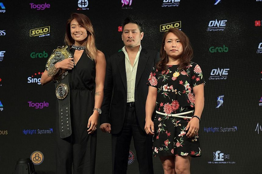 One Championship's reigning atomweight champion Angela Lee will seek to preserve her unbeaten record against Japan's Mei Yamaguchi at the Singapore Indoor Stadium on Friday. Her brother Christian (below) faces Martin Nguyen for the featherweight belt