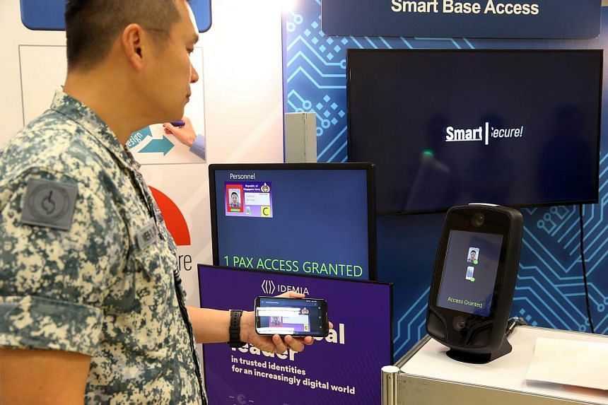 The Smart Base Access project is seen at the Mindef/SAF Digital Innovation Day (DID), on May 15, 2018.