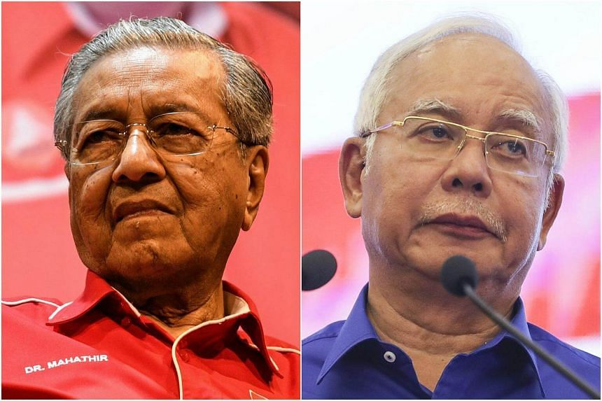 Prime Minister Mahathir Mohamad (left) said that he will soon bring a case against former prime minister Najib Razak, who has repeatedly denied wrongdoing after 2015 revelations that around US$700 million (S$933 million) - alleged to be 1MDB funds -