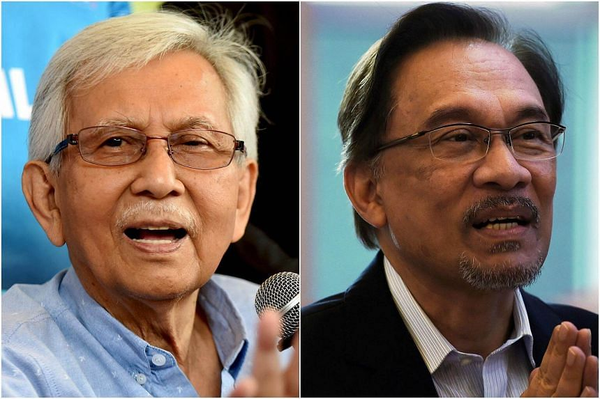 Tun Daim Zainuddin (left) said a move to install politician Anwar Ibrahim as prime minister immediately after he returns to Parliament would be foolish.