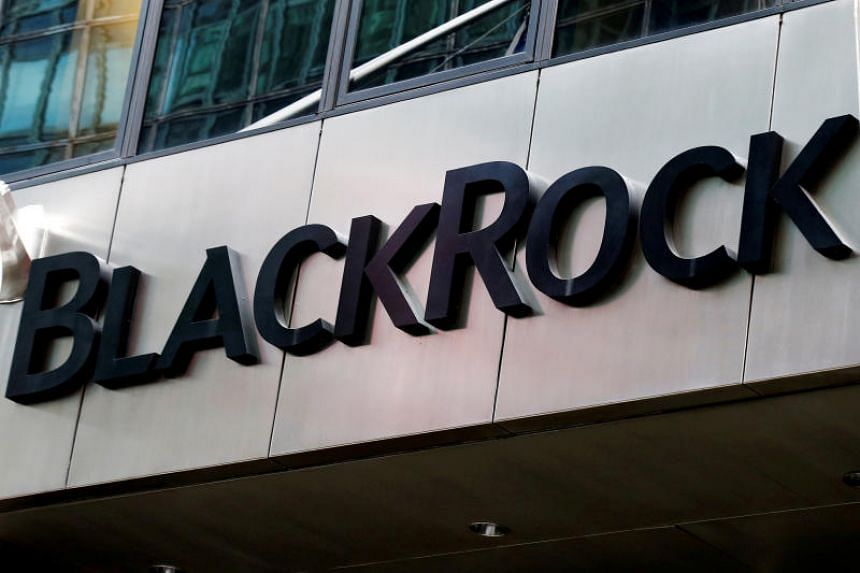 The BlackRock logo seen outside one of its offices in New York City.