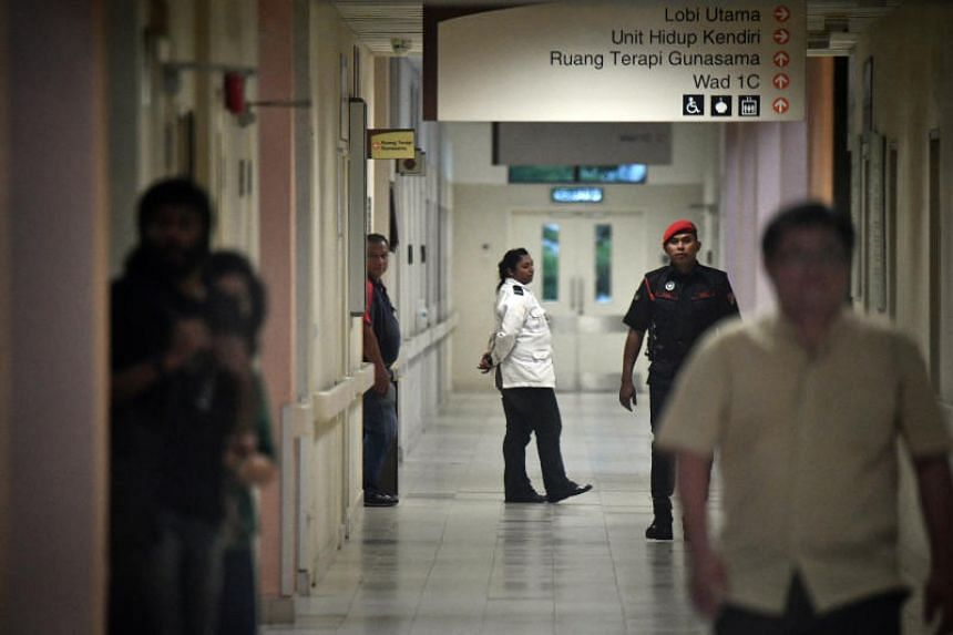 Prison officers at the Cheras Rehabilitation Centre in Kuala Lumpur, where Malaysia's prime minister-in-waiting Anwar Ibrahim is being held, on May 12, 2018.
