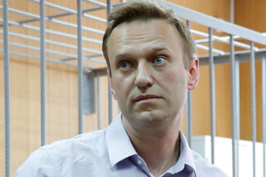 Russian opposition leader Alexei Navalny attends a court hearing in Moscow on May 15, 2018.