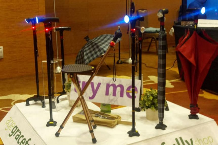 Innovations for the elderly showcased at the 9th International Ageing Asia Innovation Forum on May 15, 2018, at the Marina Bay Sands Convention Centre.