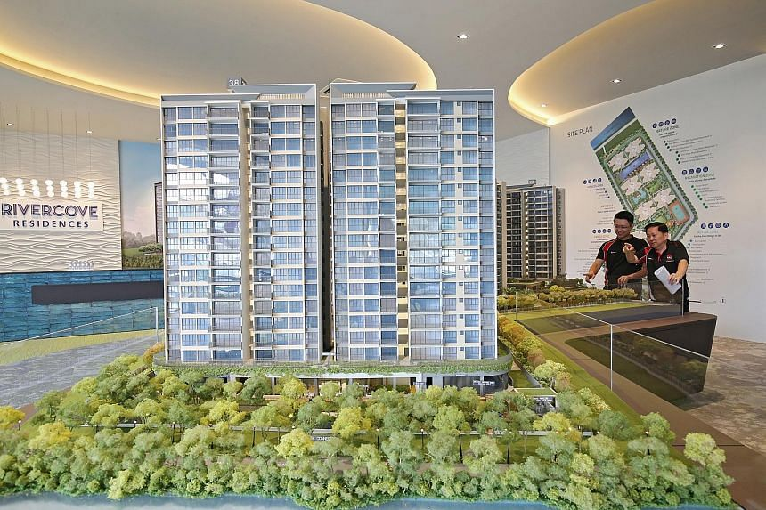 The top-selling project last month was the Rivercove Residences executive condominium. The developer, a Hoi Hup Realty-Sunway Developments joint venture, moved 512 units at a median price of $970 per sq ft.