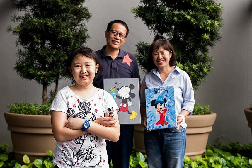 Celeste Chang, 15, had brain cancer when she was seven. Despite that, she persevered and got into a secondary school of her choice. When she was bullied there, her parents Astro Chang and Jackie Lee home-schooled her. Celeste has painted more than 20