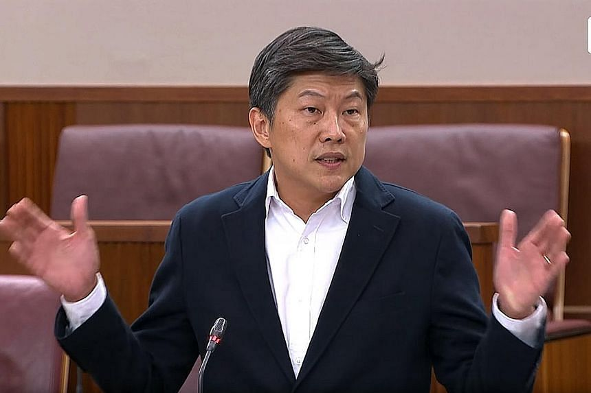 Mr Ng Chee Meng made his first speech as NTUC deputy secretary-general in Parliament yesterday. He is expected to succeed Mr Chan Chun Sing as labour chief.