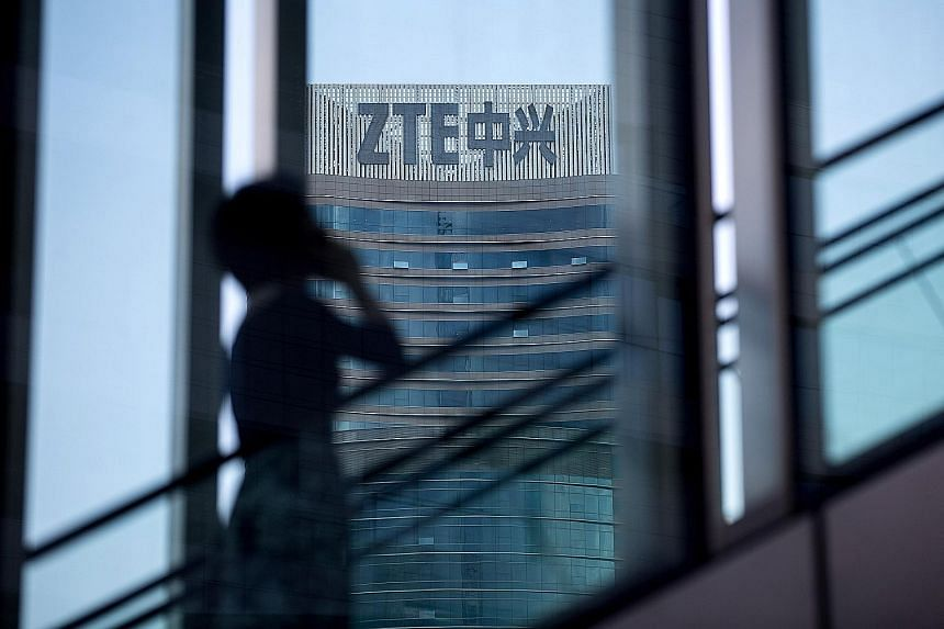 The ban on American firms selling components to ZTE would cripple the tech company, which employs about 75,000 in China. The penalty had been imposed on ZTE for violating US sanctions on Iran and North Korea.