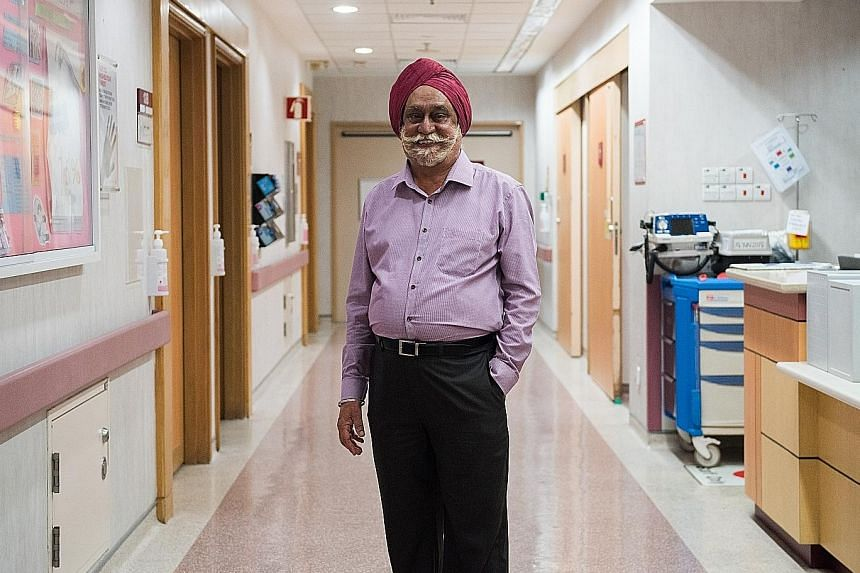 Mr Harbhajan Singh, who turns 78 in October, is looking forward to receiving his 60-year long service award next year. His long career has seen him working in different hospital wards as well as the Communicable Disease Centre, where he was at the fo