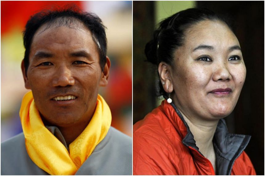 Kami Rita Sherpa (left), a professional guide, and Lhakpa Sherpa, who works in a supermarket in Connecticut, reached the summit from opposite sides of Mount Everest.