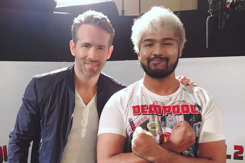 Deadpool 2 star Ryan Reynolds with KISS 92 DJ Joshua Simon. PHOTO: INSTAGRAM/@joshuasimonxl
