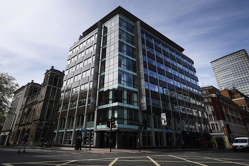 Cambridge Analytica's offices in London on May 3, 2018.
