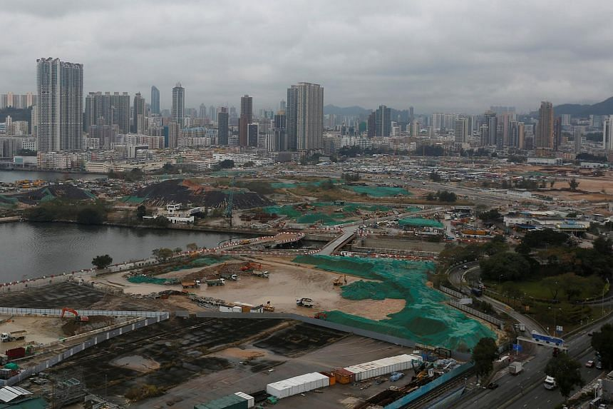 A general view of land development at the Kai Tak area, which is the location of city's former airport, in Hong Kong, on March 14, 2017.