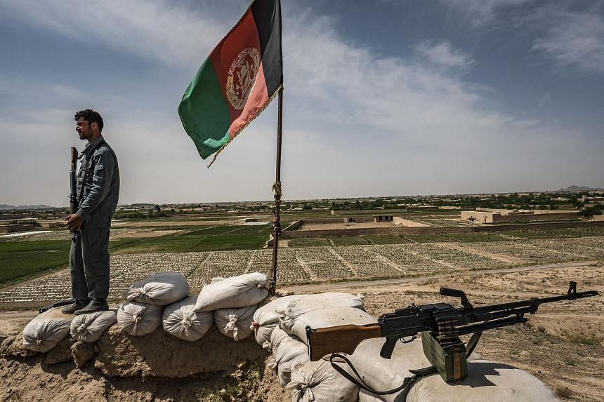 A police outpost north of Farah, Afghanistan, April 13, 2017. The Taleban claimed to have captured the capital of the western province of Farah on May 15, 2018.