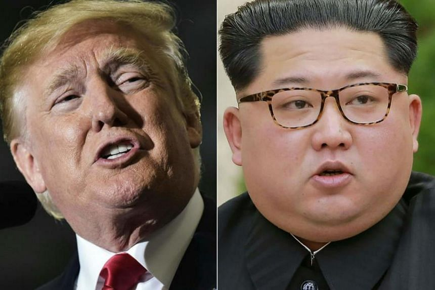 """US President Donald Trump and North Korean leader Kim Jong Un. The fate of the US-North Korea summit as well as bilateral relations """"would be clear"""" if Washington speaks of a Libya-style denuclearisation for the North."""