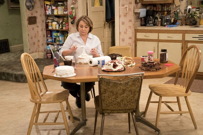 Roseanne Barr (above) in the sitcom, Roseanne.