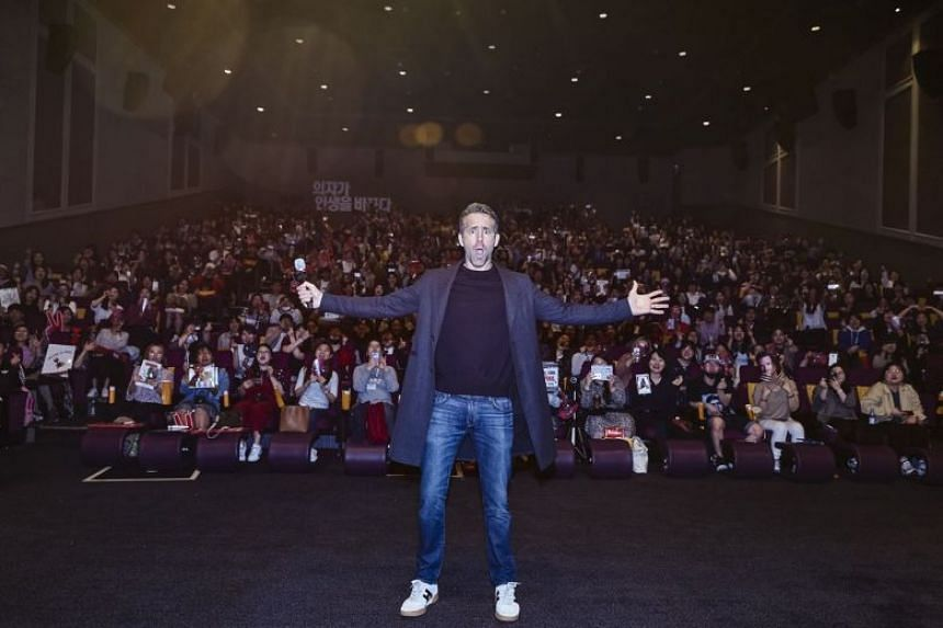 Deadpool 2 star Ryan Reynolds at a sneak peek of the movie in Seoul.
