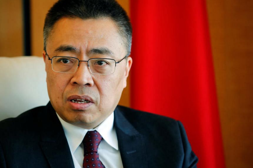 Zhang Xiangchen, Chinese Ambassador to the World Trade Organisation, speaking during an interview in Geneva, Switzerland, on March 22, 2018.