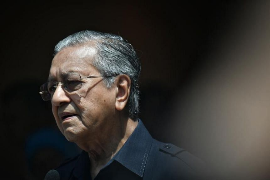 Malaysian Prime Minister Tun Mahathir Mohamad at a press conference on May 11, 2018.