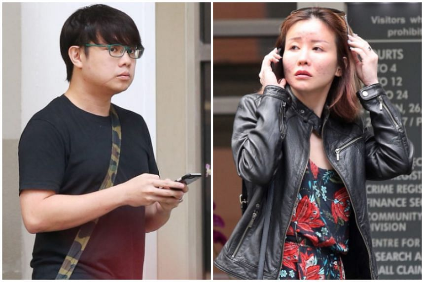 Joshua Koh Kian Yong, whose face was slashed by an alleged hitman, and his girlfriend Audrey Chen Ying Fang.