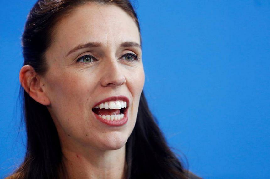New Zealand Prime Minister Jacinda Ardern speaking during a press conference in Berlin, Germany on April 17, 2018.