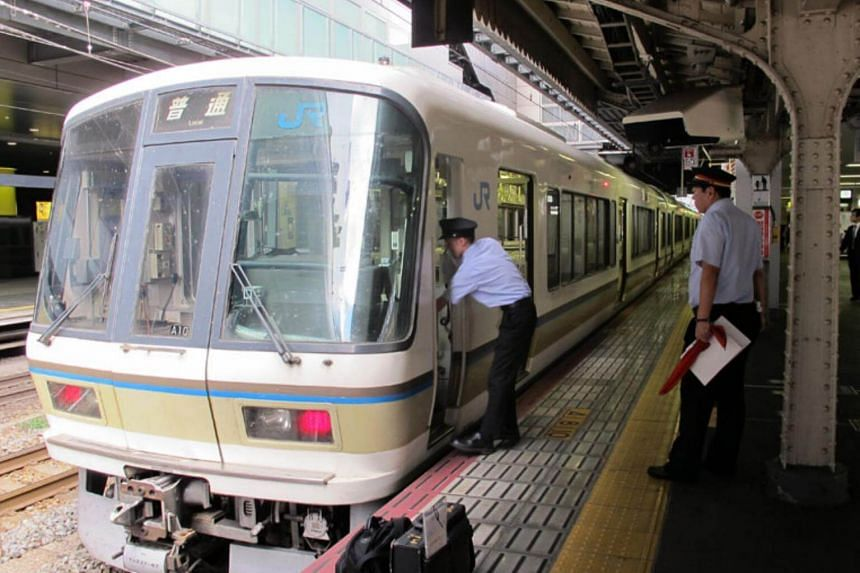 A local train on the Biwako Line.
