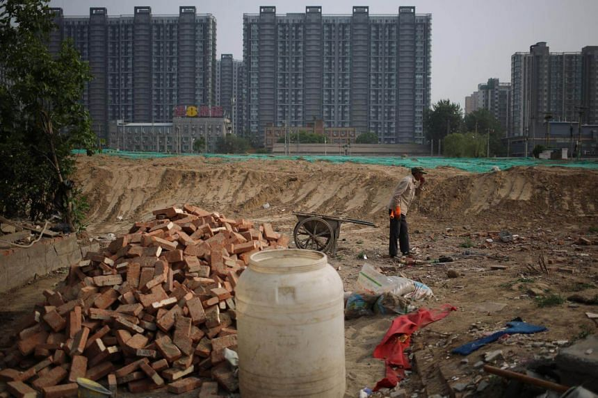 A Chinese migrant worker at a construction site in Beijing, China on May 7, 2018.