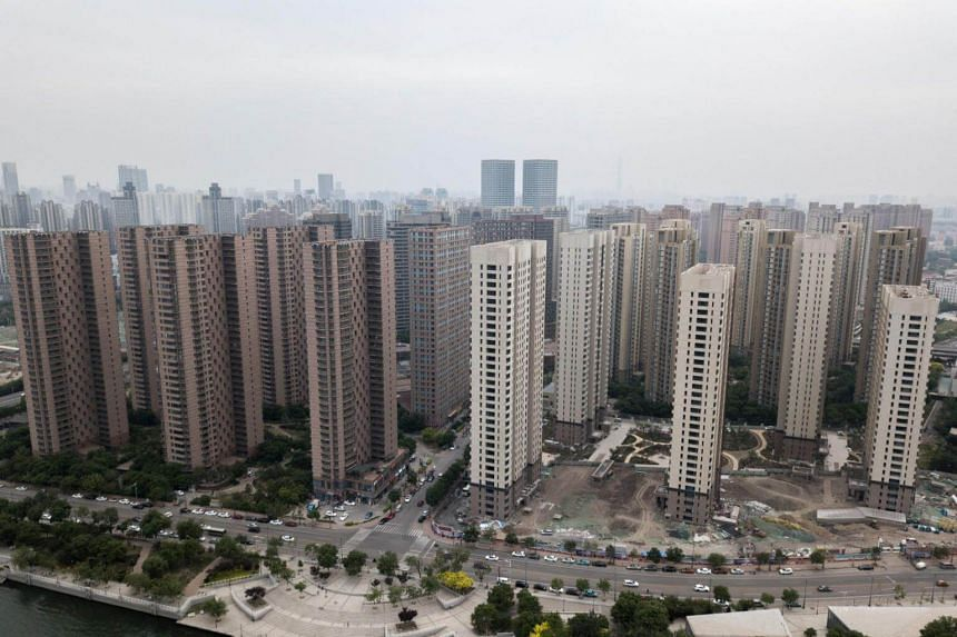 An aerial view of residential buildings in Tianjin in a photo taken on May 10, 2018.