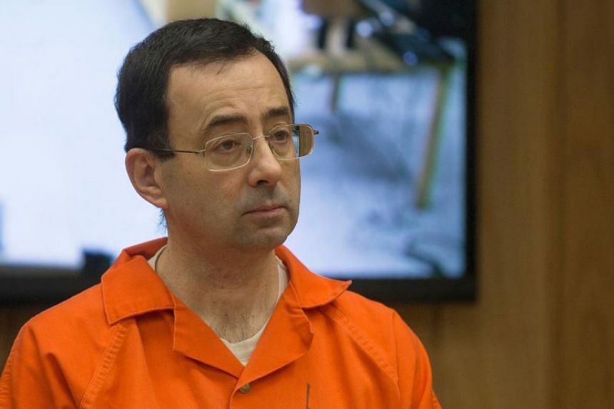 Former Michigan State University and USA Gymnastics doctor Larry Nassar appears in court for his final sentencing phase in Eaton County Circuit Court in Charlotte, Michigan, on Feb 5, 2018.