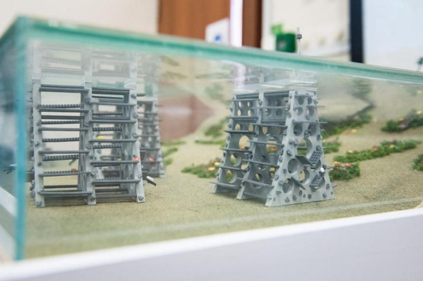 A prototype of Singapore's largest artificial reef.