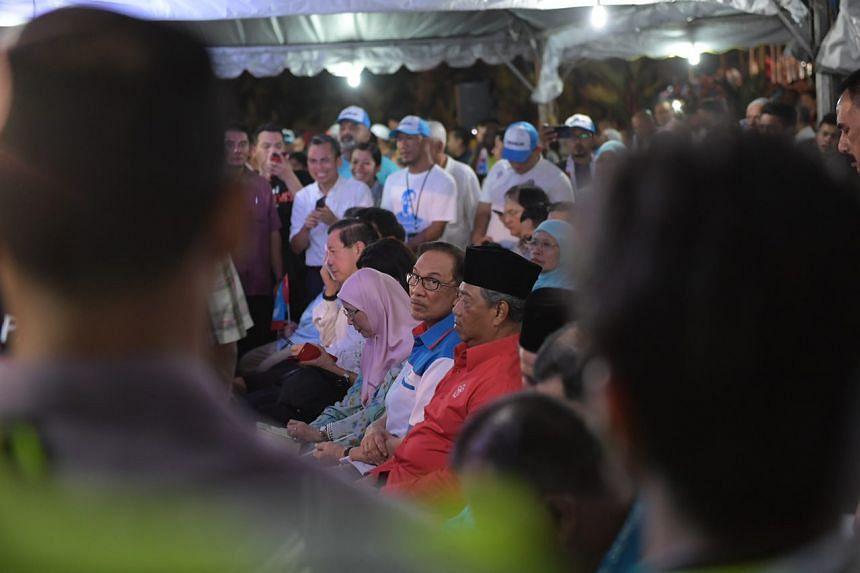 Opposition leader Anwar Ibrahim on May 16, 2018.
