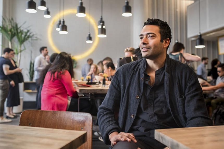 Mr Basu Ratnam, owner of three fast-casual Indian restaurants named Inday, where straws are now provided only when customers request them, in New York on May 9, 2018.