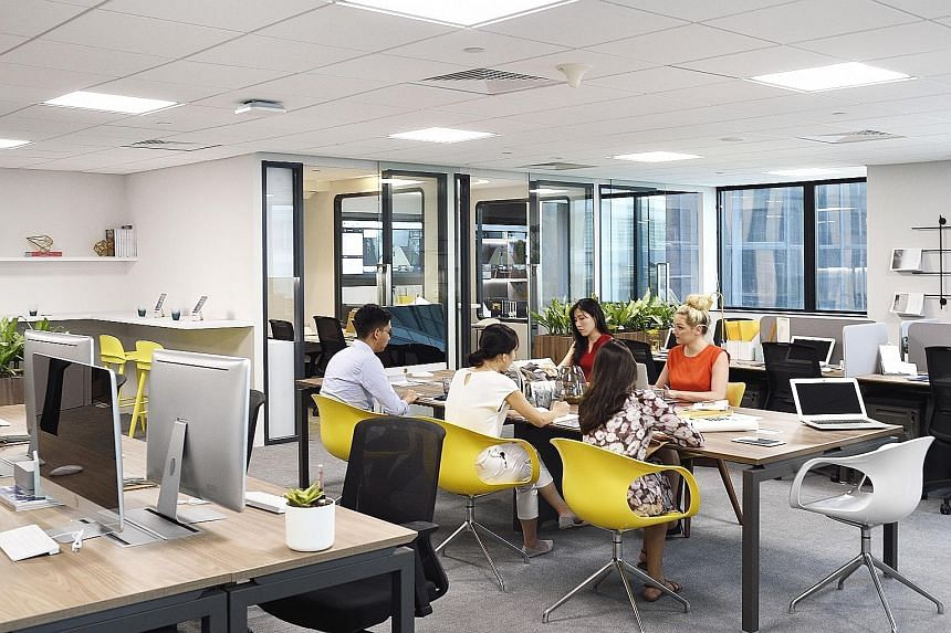 Distrii's co-working space at CDL's Republic Plaza spans 62,000sq ft across six floors. The key feature of this space is Distrii's proprietary enterprise collaboration and productivity tools.