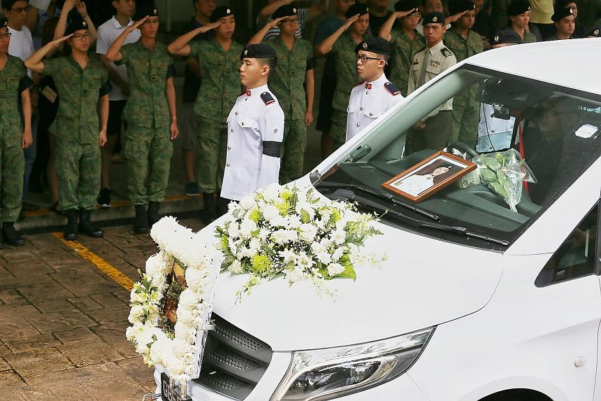 Third Sergeant Gavin Chan, who died during an annual military drill in Australia last September, was given a military funeral. He was commanding a vehicle when it landed on its side.