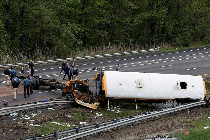 The crash, which occurred in Mount Olive Township in northern New Jersey's Morris County, involved a dump truck and a school bus carrying 38 students and seven adults.