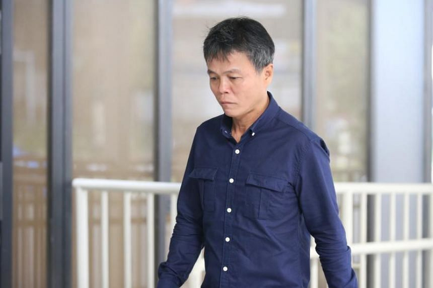 Ong Hock Chye (above) was identified by two people as one of the men they met to discuss an attack on a businessman's love rival.