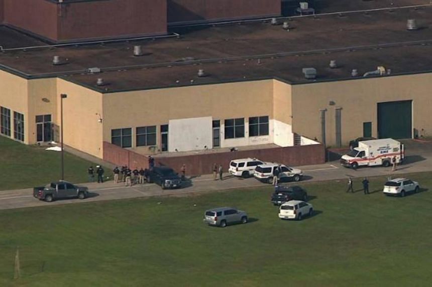 A shooting was reported at Santa Fe High School in a suburb of Houston on May 18, 2018.