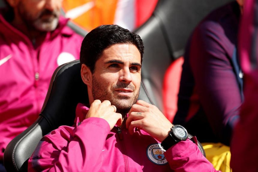 Manchester City co-assistant coach Mikel Arteta at St Mary's Stadium, Southampton, Britain on May 13, 2018.