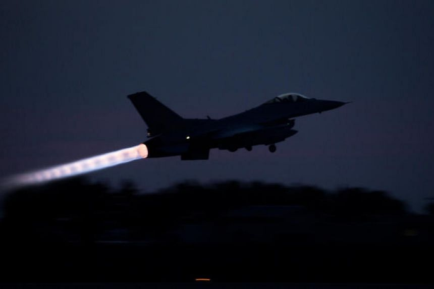A Republic of Korea F-16 Fighting Falcon takes off during Exercise Max Thunder 17 at Gunsan Air Base, South Korea, on April 26, 2017.