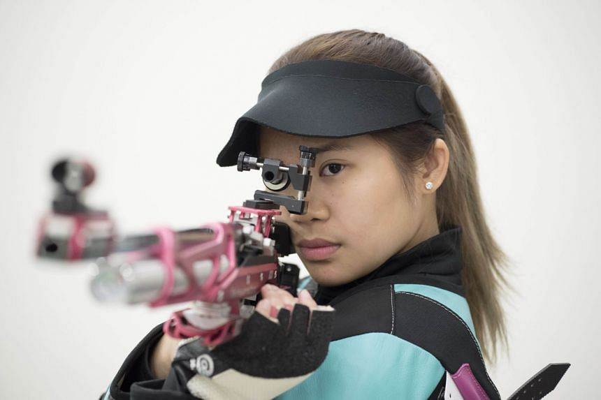 In 2014, in Munich, she won a World Cup gold at 14, the youngest woman in shooting history to do so.
