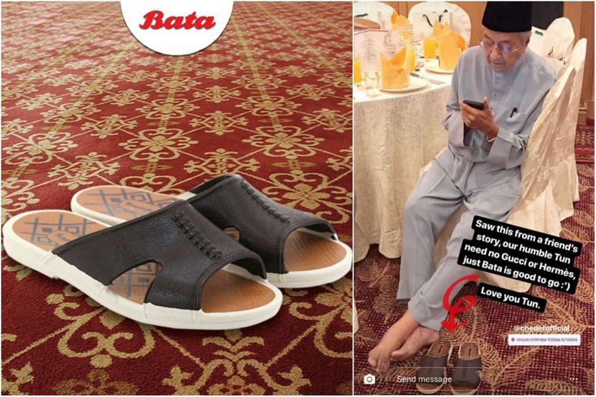 Malaysian Prime Minister Tun Dr Mahathir Mohamad was spotted clad in a pair of brown Bata sandals, prompting the shoe brand to share a picture of it and tout it as the hottest accessory this Ramadan.