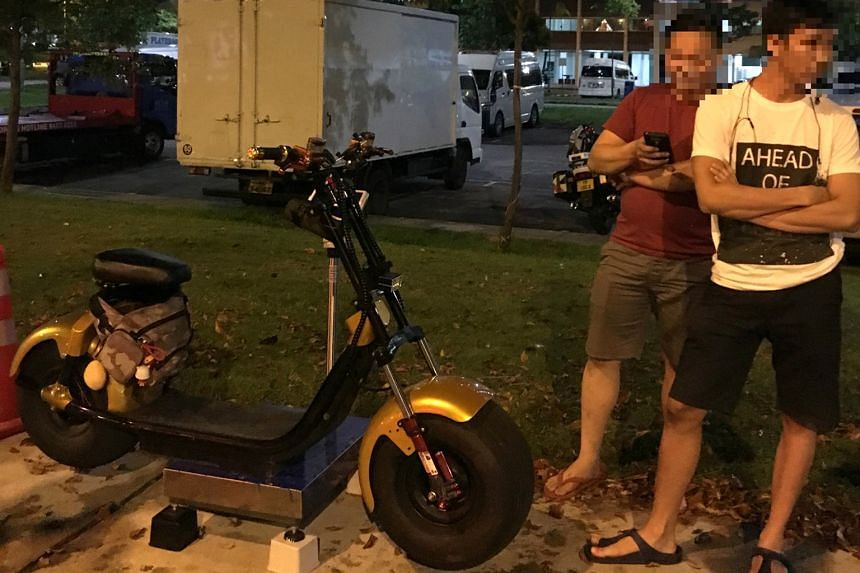 The enforcement operation against errant riders was carried out by the LTA's Active Mobility Enforcement Officers and the Traffic Police earlier this week. PMDs seized included one weighing more than 64kg.