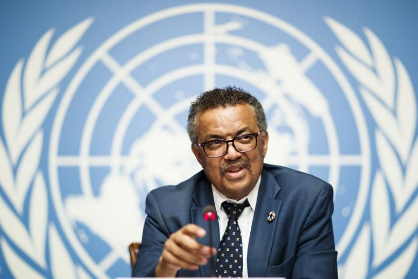 Tedros Adhanom Ghebreyesus, director general of the World Health Organization, attends a press conference at the European headquarters of the United Nations in Geneva, Switzerland, on May 18, 2018.